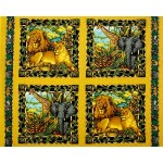 Exotic Animals Pillow Panel