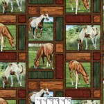 Valley Crest Horses Frames Cotton