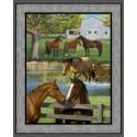 Summer Breeze Horse Cotton Panel
