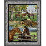 Summer Breeze Horse Cotton Panel