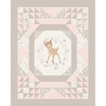 Bambi Framed Cotton Panel