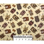 Best Friends Fabric Growing Up Backpacks Sepia Cotton