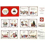 Deck The Halls Storybook Cotton Fabric Panel