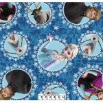 3/4 yard piece Disney Frozen Characters Blue Fleece