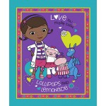 Doc McStuffins Lollipops & Lemonade Cotton Panel