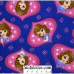 3/4 yard piece Disney Princess Sofia Ogee Fleece