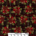 Berries and Bells Plaid Glitter Cotton
