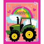 John Deere Peace Love and Tractors Panel