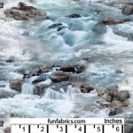 Landscape Raging River Rapids Cotton