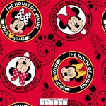 7/8 yard piece House of Minnie Mouse Red Fleece