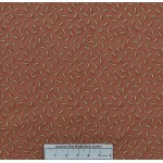 3/4 yard piece Tiggy Winkle Clothespin Rust Cotton Fabr