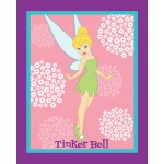 Tinkerbell Coral and White Flowers Panel