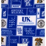 7/8 yard piece University of Kentucky Squares Fleece