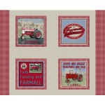 Farmall Country Check Pillow Panel