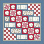 Santa's Stocking Fillers Flannel Quilt Kit