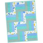 Little One Flannel Blue Pre-Cut Quilt Kit
