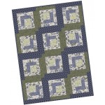 Pearl Essence Log Cabin Pre-Cut Quilt Kit