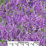 Landscape Lavender Flowers Cotton