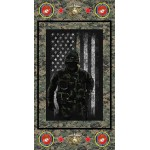 United States Marines Image Cotton Panel