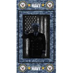 United States Navy Image Cotton Panel