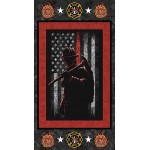 Fire Department Image Cotton Panel
