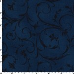 Midnight Blue Beautiful 108 Wide Cotton
