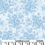 Homestead Roses Sky Blue 108 Wide Cotton
