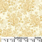 Homestead Roses Tan 108 Wide Cotton