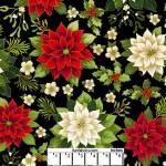 Joyous Garden Black Red 108 Cotton