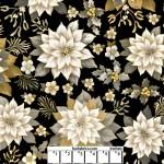 Joyous Garden Black Tan 108 Cotton