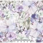 Purple Watercolor Arabesque 108 Cotton