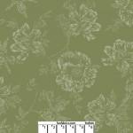 Shadow Flower Leaf Green 108 Cotton