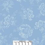 Shadow Flower Medium Blue 108 Cotton