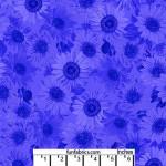 Sunflower Whisper Royal Blue 108 Cotton