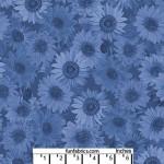 Sunflower Whisper Denim Blue 108 Cotton