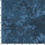 Deep Blue Vintage Damask 108 Wide Cotton