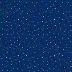 White Dots on Navy 108 Wide Cotton