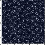 Patriotic Small Stars Navy 108 Wide Cotton
