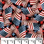 Our Starry Flag 108 Wide Cotton