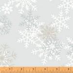 Snowflakes Gray 108 Wide Cotton