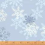 Snowflakes Blue 108 Wide Cotton