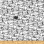 Packed Cats 108 Wide Cotton