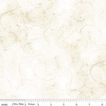 Aged White Watercolor Swirl Wide Cotton
