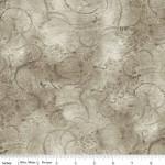 Brownish Gray Watercolor Swirl Wide Cotton