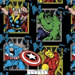 Marvel Comics Avengers Busting Out Black Fleece