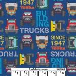 Tonka Trucks Building Blocks Blue Cotton