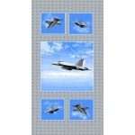 Boeing Military Jets Quilting Panel