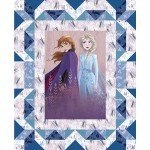 Frozen Two Faux Quilt Panel