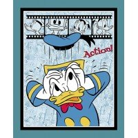 Donald Duck Action Cotton Panel
