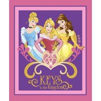 Disney Princesses Keys to the Kingdom Cotton Panel